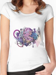 Music Girl 3 Women's Fitted Scoop T-Shirt
