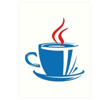 A cup of Java Art Print