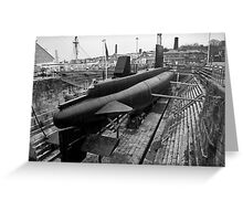 HMSM Ocelot: Royal Navy Submarine  Greeting Card