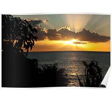Tropical sunset,Mauritius Poster