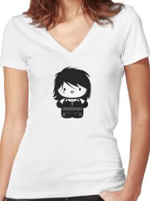 Chibi-Fi Death of the Endless Women's Fitted V-Neck T-Shirt