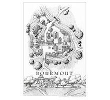 Bourmout map [B&W] Photographic Print
