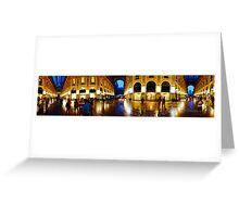 360° Galleria Vittorio Emanuele shopping Center - Milan, Italy Greeting Card