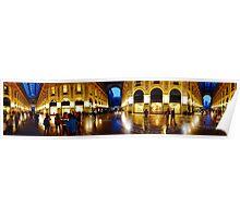 360° Galleria Vittorio Emanuele shopping Center - Milan, Italy Poster