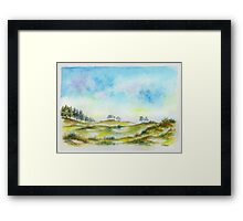 DUTCH DUNES Framed Print