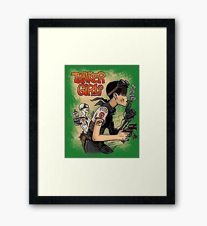 Tanker Girl Framed Print