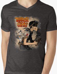 Tanker Girl Mens V-Neck T-Shirt