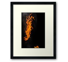 Fire Photography is the BEST! Framed Print