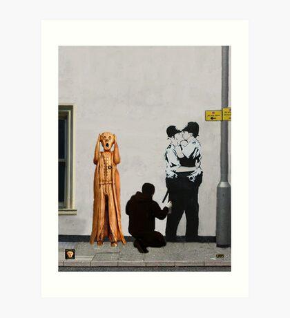 The Scream World Tour Street Art Art Print