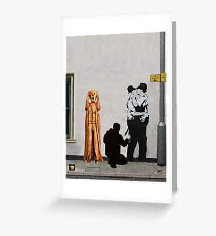 The Scream World Tour Street Art Greeting Card