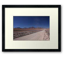 Straight Framed Print