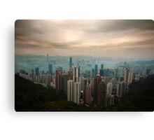 Hong Kong & Kowloon Canvas Print