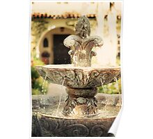 Fountain at the Mission San Buenaventura Poster