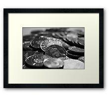 Coins Framed Print