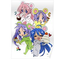 Lucky star new year kumas Poster