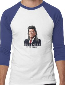 Business in the Front Men's Baseball ¾ T-Shirt
