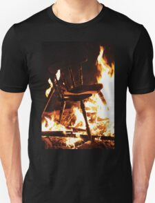 Burning Chair Unisex T-Shirt