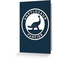 Ankylosaur Fancier Print Greeting Card