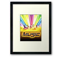 Music Flyers Framed Print
