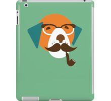 Cute Beagle Dog Hipster Animal With Pipe iPad Case/Skin