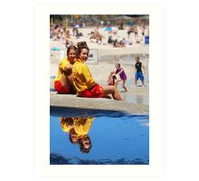 Lifesavers at Cottesloe Beach Art Print