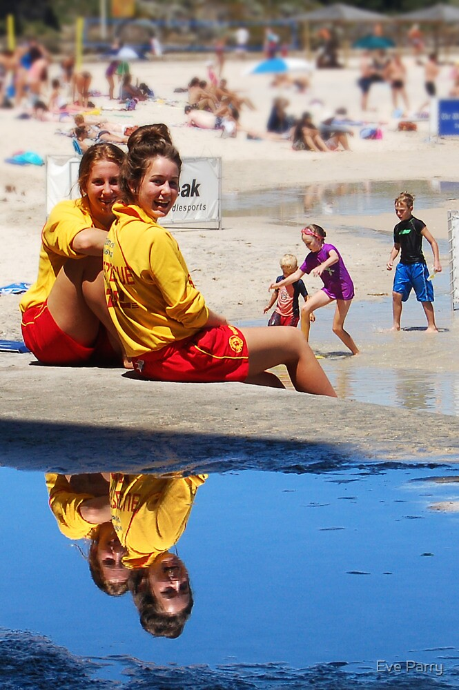 Lifesavers at Cottesloe Beach by Eve Parry