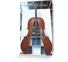 Displaced Cello 3. Greeting Card