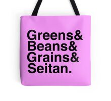 What Vegans Eat - Black Helvetica List Tote Bag