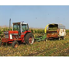 Chopping Silage - Northeast Iowa Photographic Print