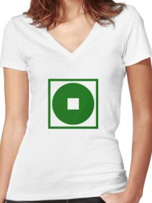Earth Kingdom Women's Fitted V-Neck T-Shirt