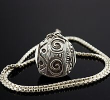 Aztec in Design Fine Silver Pendant by Mahooney