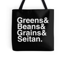 What Vegans Eat - White Helvetica List Tote Bag