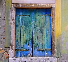 Shuttered & Battered Window by Sheila Laurens