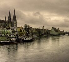 Riverside at Regensburg by Rob Hawkins