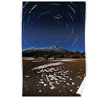 Teide star trail Poster