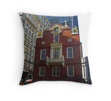Old State House , Boston, Massachusetts Throw Pillow