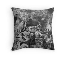 The Dog House. Throw Pillow