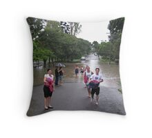 Brisbane Floods 2011 - Inundation - Smiling in the face of adversity Throw Pillow