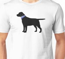 Black Labrador Retriever Preppy Silhouette Unisex T-Shirt