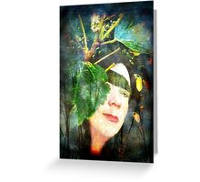 She lives in green mansions Greeting Card