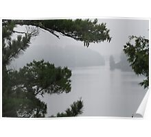 Foggy Morning in Sioux Narrows Poster