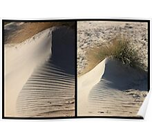 Sand shapes in the dunes Poster