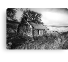 Old House at Glendun glen, Co. Antrim, Ireland. Canvas Print