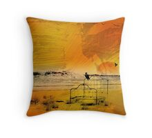 Desert Motel Throw Pillow