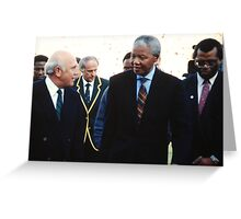 South African Leaders Greeting Card