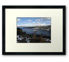 Emerald Bay & Fannette Island Framed Print