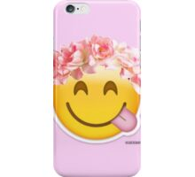 FLOWER CROWN EMOJI iPhone Case/Skin