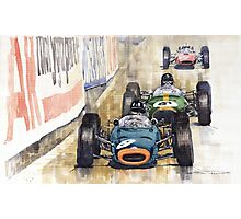 Monaco GP 1964 BRM Brabham Ferrari Photographic Print