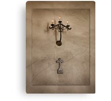 The Cross and The Crack Canvas Print