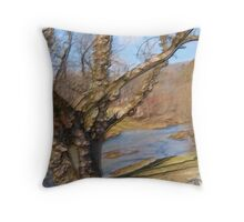 Willow Wood and Water Throw Pillow